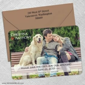 True Love 5 Save The Date With Optional Color Envelope