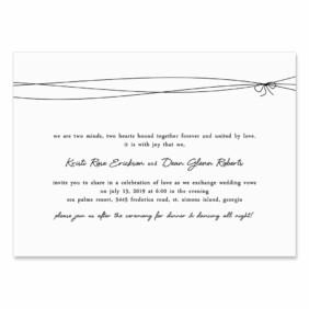 Tying The Knot Wedding Invitation