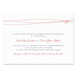 Tying The Knot Wedding Invitation
