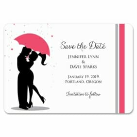 Umbrella 1 Save The Date Magnets
