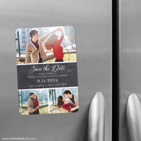 Union Square Wedding 2 Save The Date Refrigerator Magnet