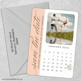 United Calendar 5 Save The Date With Optional Color Envelope