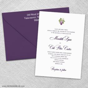 Veneto 3 Invitation And Color Envelope