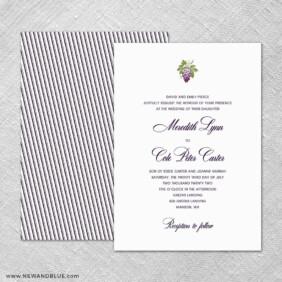 Veneto 4 Invitation Shown With Back Printing
