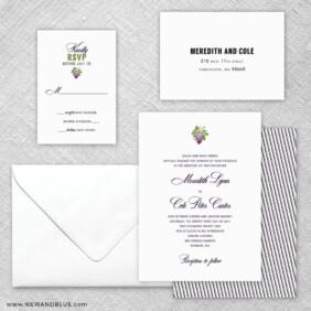 Veneto 5 Wedding Invitation And Rsvp Card