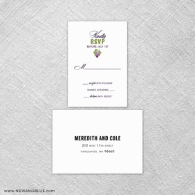 Veneto 6 Reception Card And Rsvp Card