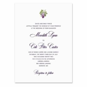 Veneto Invitation Shown In Color Purple