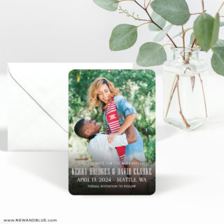 Vignette 3 Save The Date Magnet With Envelope