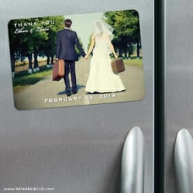 Wedding Cheer 3 Refrigerator Save The Date Magnets