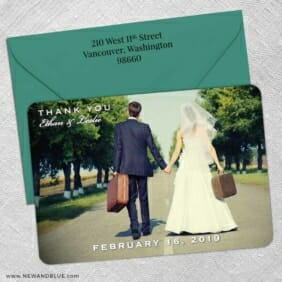 Wedding Cheer 5 Save The Date With Optional Color Envelope