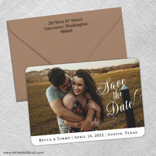 Whole Heart 3 Save The Date With Optional Color Envelope