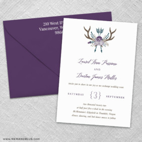 Wildaire 3 Invitation And Color Envelope