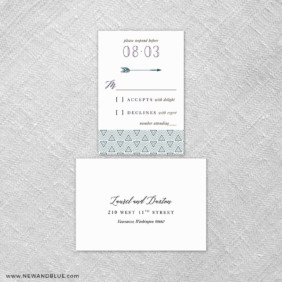 Wildaire 6 Reception Card And Rsvp Card