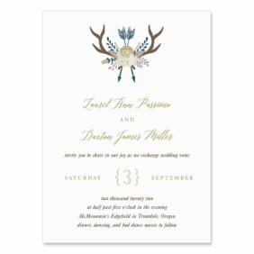 Wildaire Wedding Invitation