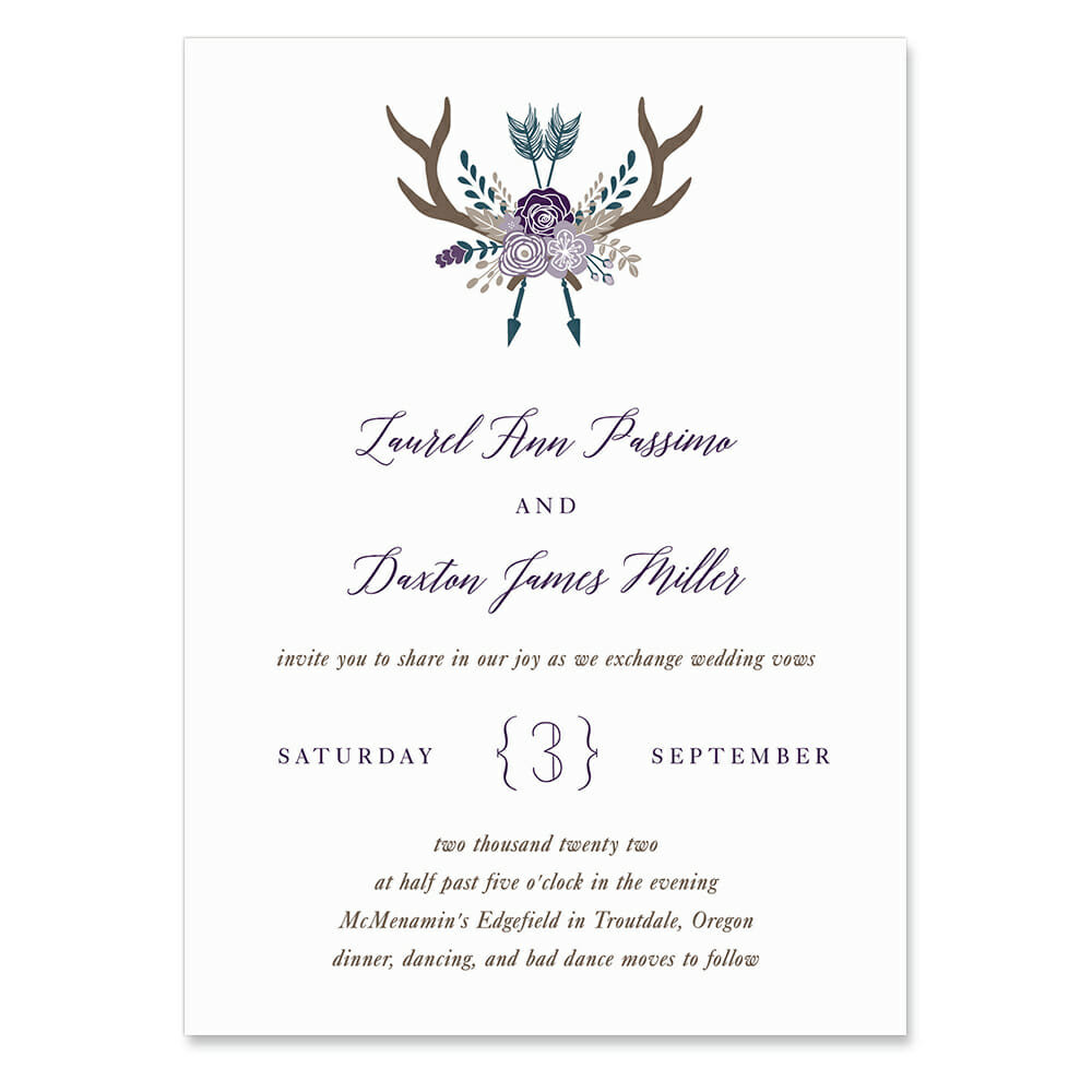 Wildaire Invitation Shown In Color Purple