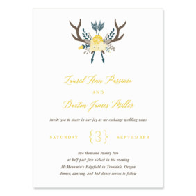 Wildaire Wedding Invitation