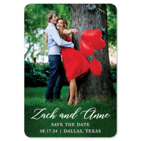 With All My Heart 1 Save The Date Magnets