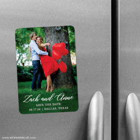 With All My Heart 2 Save The Date Refrigerator Magnet