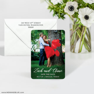 With All My Heart 7 Wedding Save The Date Magnet