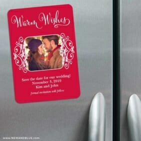 Wonderful Time Of The Year 3 Refrigerator Save The Date Magnets