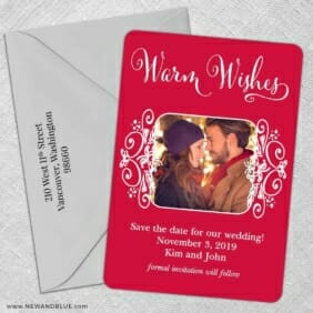 Wonderful Time Of The Year 5 Save The Date With Optional Color Envelope