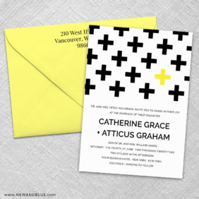 You And Me 3 Invitation And Color Envelope